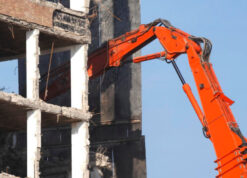 Picture of a building demolition