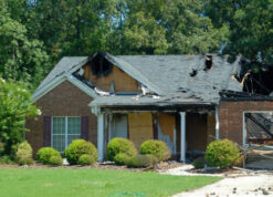 Picture of a fire restoration job
